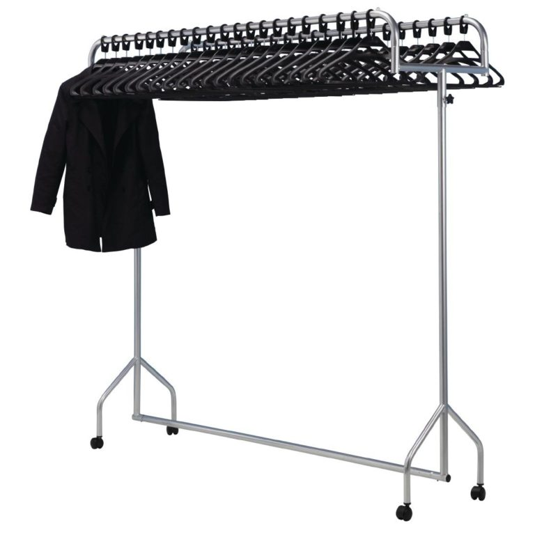 Twin Top Steel Garment Rail