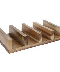 Olympia acacia wood Taco Stand