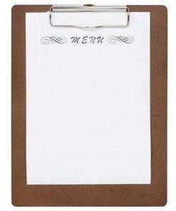Wooden Menu Presentation Clipboard A5