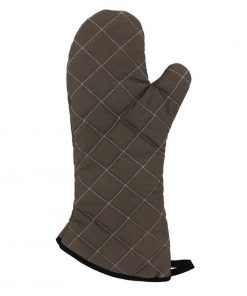 Vogue Flame Retardant Tan Oven Mitt 17""