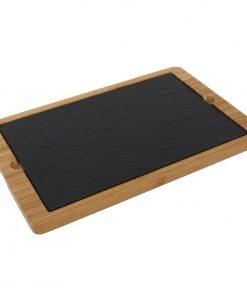 Olympia Smooth Edged Slate Platter 280x180mm