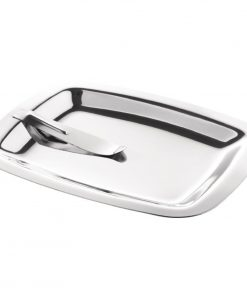 Olympia Square Stainless Steel Tip Tray With Bill Clip