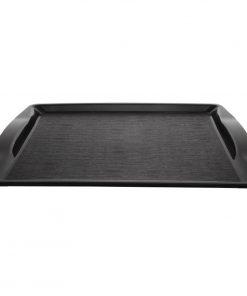 Kristallon Handled Fast Food Tray Black 420mm