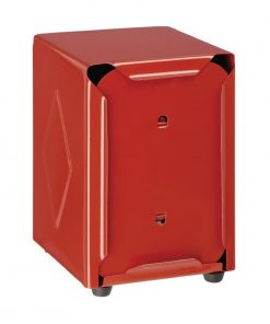 Olympia Stainless Steel Napkin Dispenser Red
