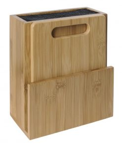 Vogue Wooden Universal Knife Block and Chopping Board