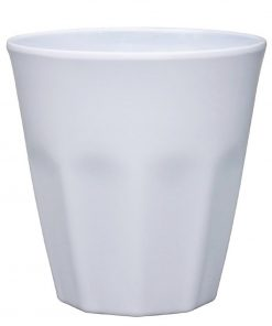Kristallon Melamine Plastic Tumbler White 290ml