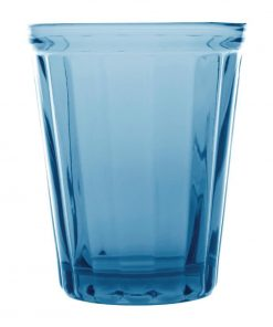 Olympia Cabot Panelled Glass Tumbler Blue 260ml