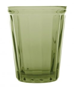 Olympia Cabot Panelled Glass Tumbler Green 260ml