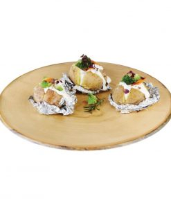APS Timber Round Melamine Platter 440mm