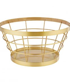 APS Plus Metal Basket Gold Brushed 110 x 210mm