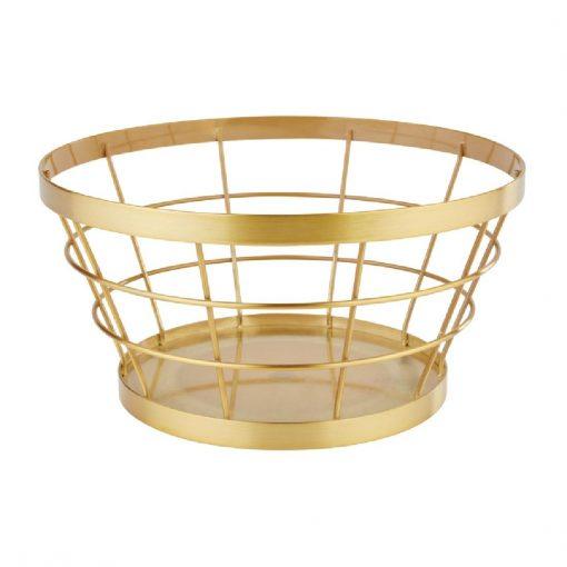 APS Plus Metal Basket Gold Brushed 110 x 210mm