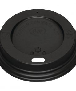 Black Lid for Fiesta 225ml / 8oz Coffee Cups x 50