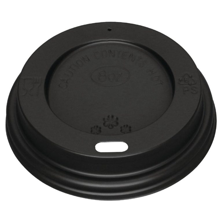 Black Lid for Fiesta 225ml / 8oz Coffee Cups x 50