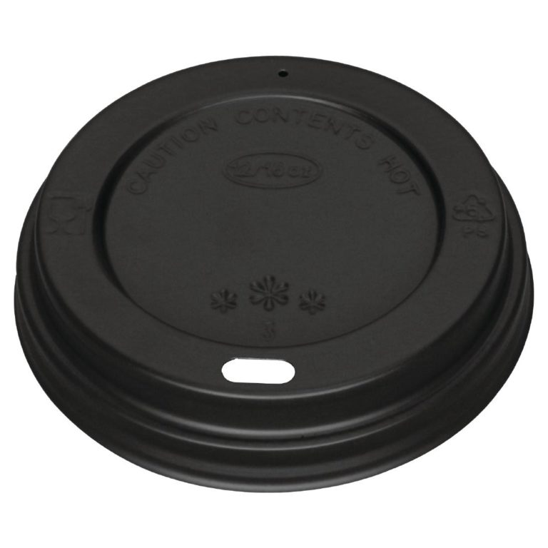 Black Lid for 340ml and 455ml Fiesta Coffee Cups x 50