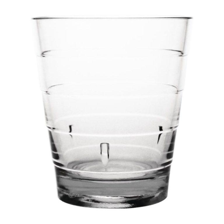 Kristallon Polycarbonate Ringed Tumbler Clear 285ml