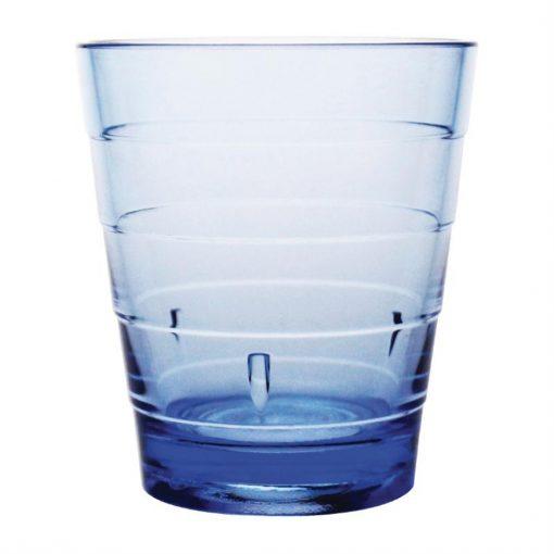 Kristallon Polycarbonate Ringed Tumbler Blue 285ml