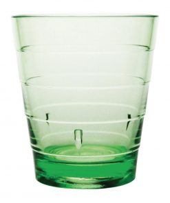 Kristallon Polycarbonate Ringed Tumbler Green 285ml