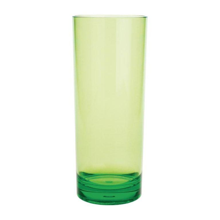 Kristallon Polycarbonate Hi Ball Glasses Green 360ml