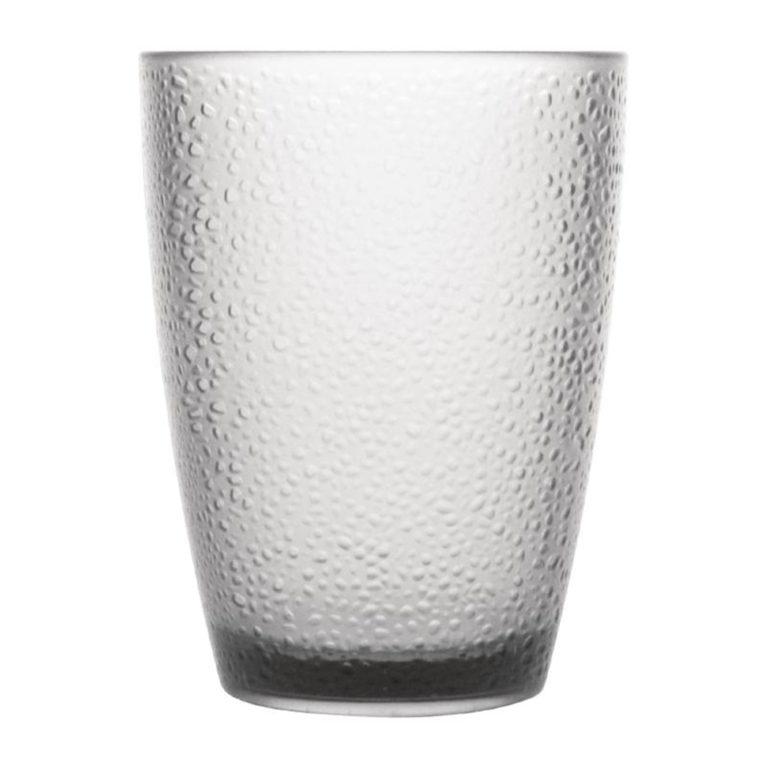 Kristallon Polycarbonate Tumbler Pebbled Clear 275ml