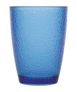 Kristallon Polycarbonate Tumbler Pebbled Blue 275ml