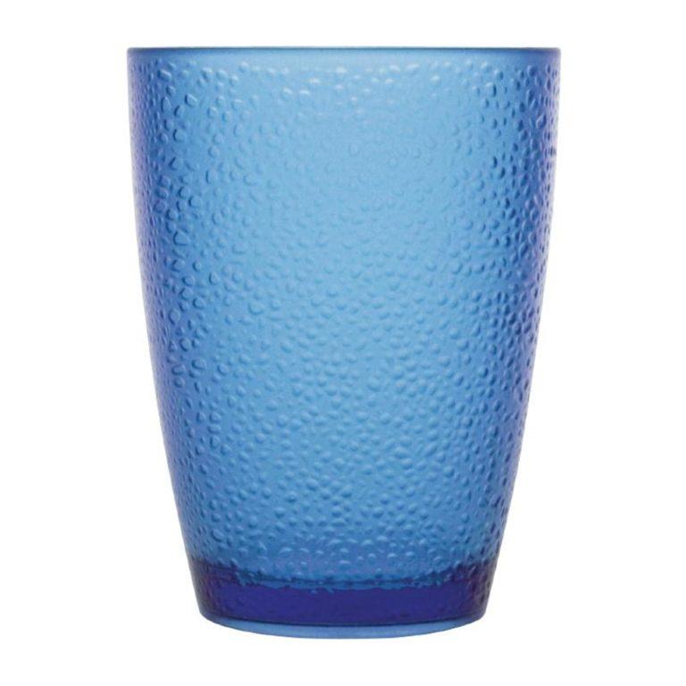 Kristallon Polycarbonate Tumbler Pebbled Blue 275ml