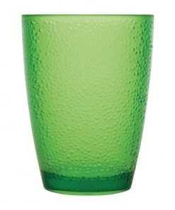 Kristallon Polycarbonate Tumbler Pebbled Green 275ml