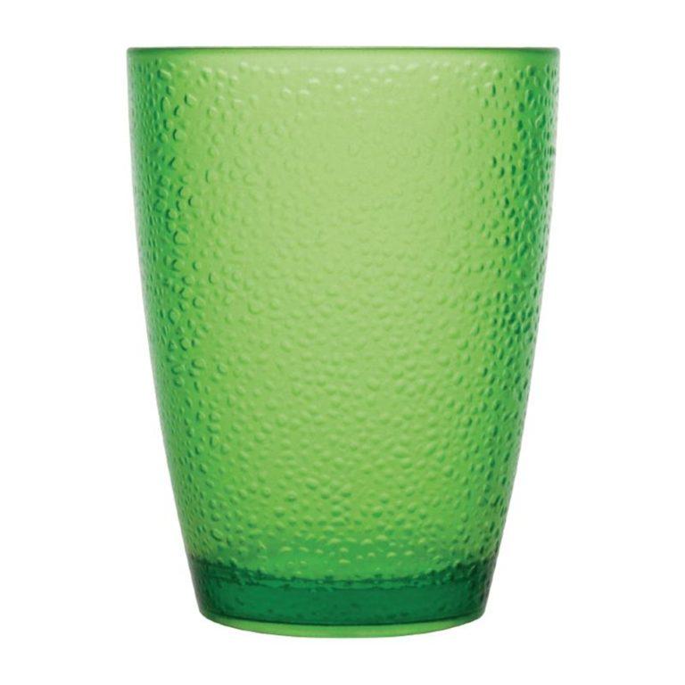 Kristallon Polycarbonate Tumbler Pebbled Green 275ml