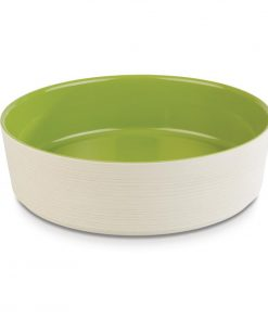 APS Plus Melamine Round Bowl Maple and Green 4 Ltr