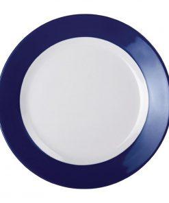 Kristallon Gala Colour Rim Melamine Plate Blue 260mm