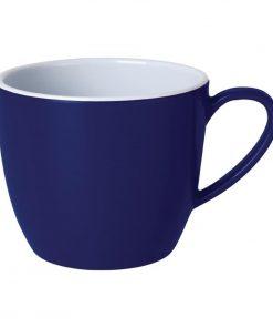Kristallon Gala Colour Rim Melamine Mug Blue 285ml