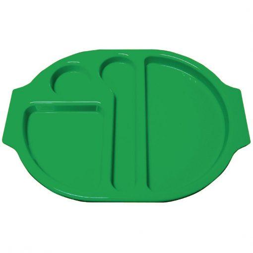 Kristallon Plastic Food Compartment Tray Small Green