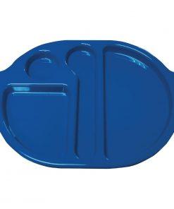 Kristallon Plastic Food Compartment Tray Small Blue