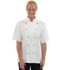 Whites Chicago Unisex Chefs Jacket Short Sleeve XS
