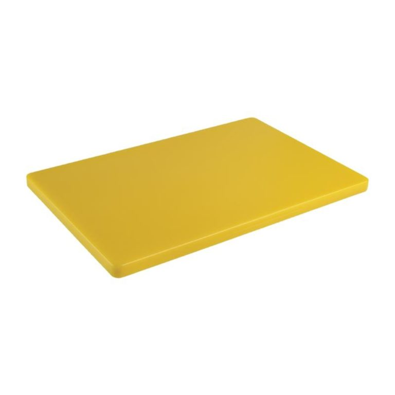 Hygiplas Extra Thick Low Density Yellow Chopping Board