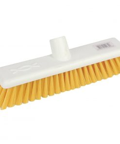 Jantex Hygiene Broom Soft Bristle Yellow 12in