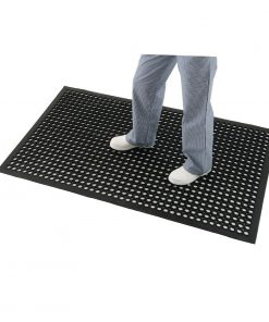 Jantex Rubber Anti Fatigue Mat Black