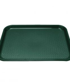 Kristallon Plastic Fast Food Tray Green Small