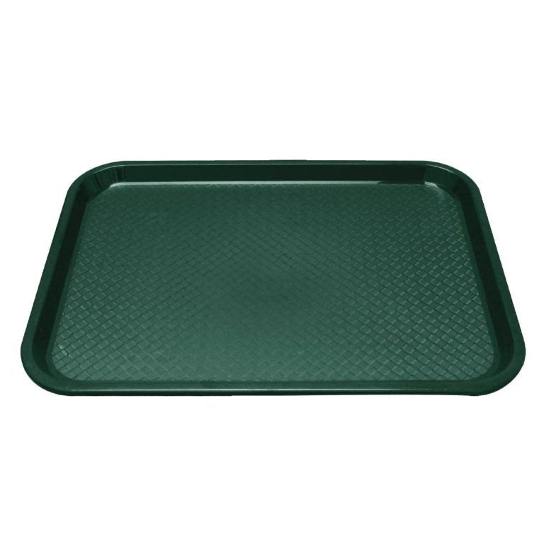 Kristallon Plastic Fast Food Tray Green Small