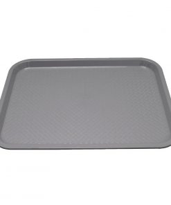 Kristallon Plastic Fast Food Tray Grey Small