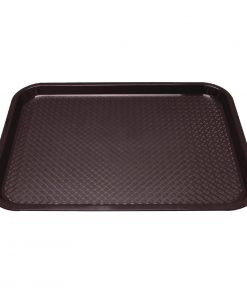 Kristallon Plastic Fast Food Tray Brown Small