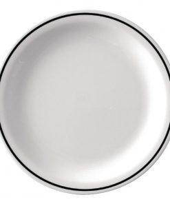 Kristallon Black Band Melamine Dinner Plates 230mm