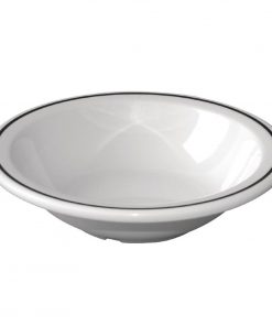 Kristallon Black Band Melamine Bowls 150mm