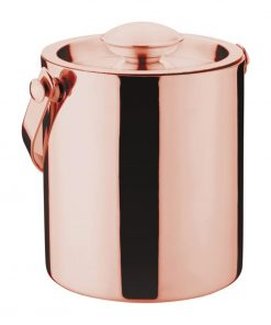 Olympia Double Walled Ice Bucket with Lid 1Ltr Copper
