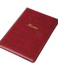 Olympia PVC Menu Cover A5 Burgundy