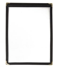 Olympia American Style Menu Cover Black A5