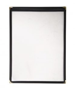 Olympia American Style Menu Cover Black A4
