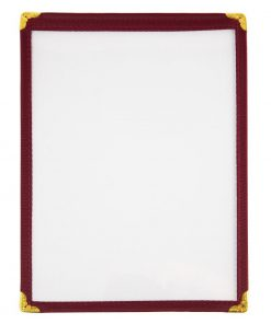 Olympia American Style Menu Cover A5 Burgundy