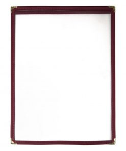 Olympia American Style Menu Cover A4 Burgundy