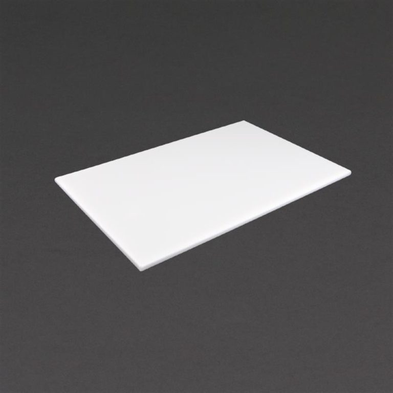 Hygiplas Anti Microbial High Density White Chopping Board