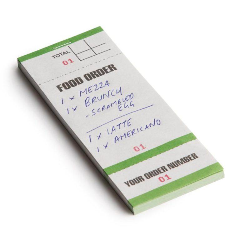 Bar Food Pad With Order Tickets Single Leaf